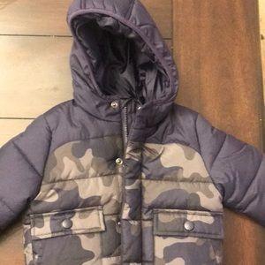 Navy Blue Toddler Puffer Jacker